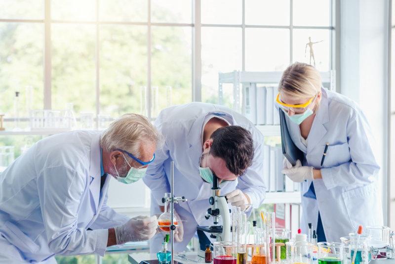 scientist doing work